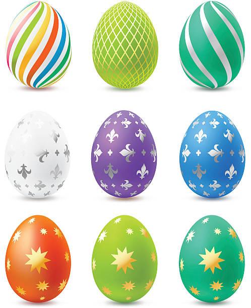 Easter eggs vector art illustration