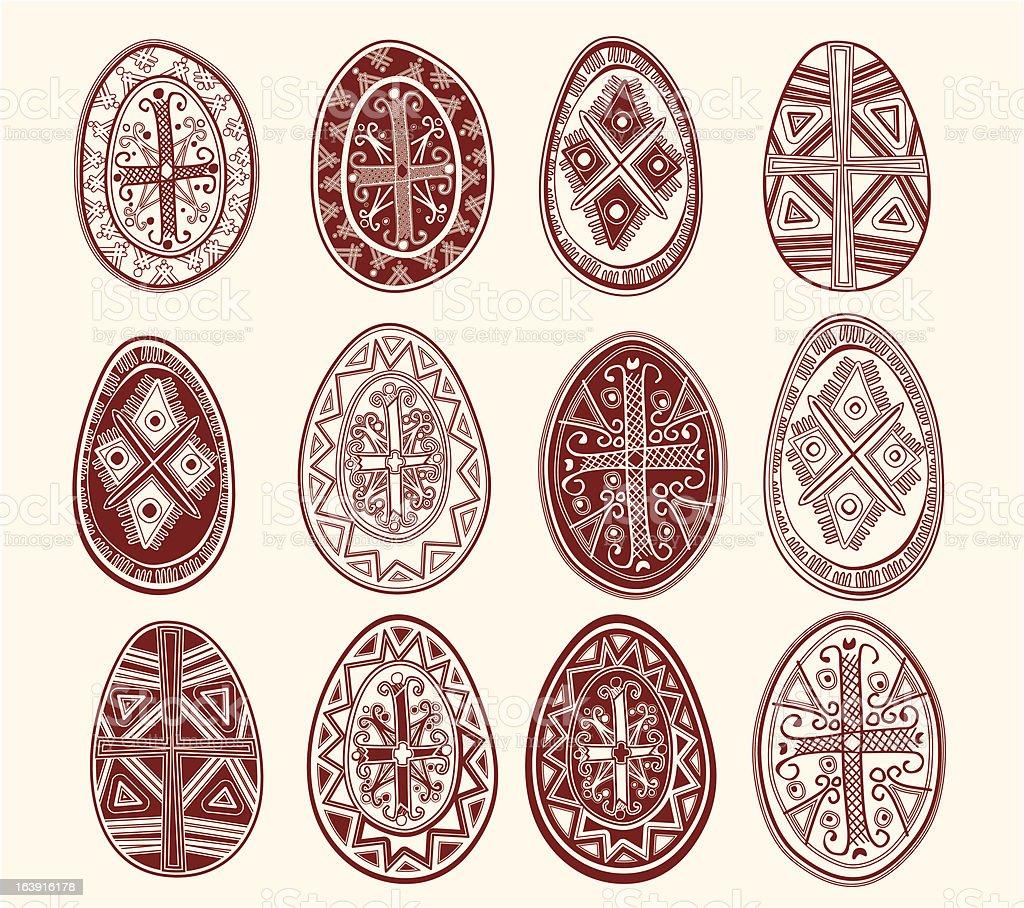 Easter eggs. royalty-free stock vector art