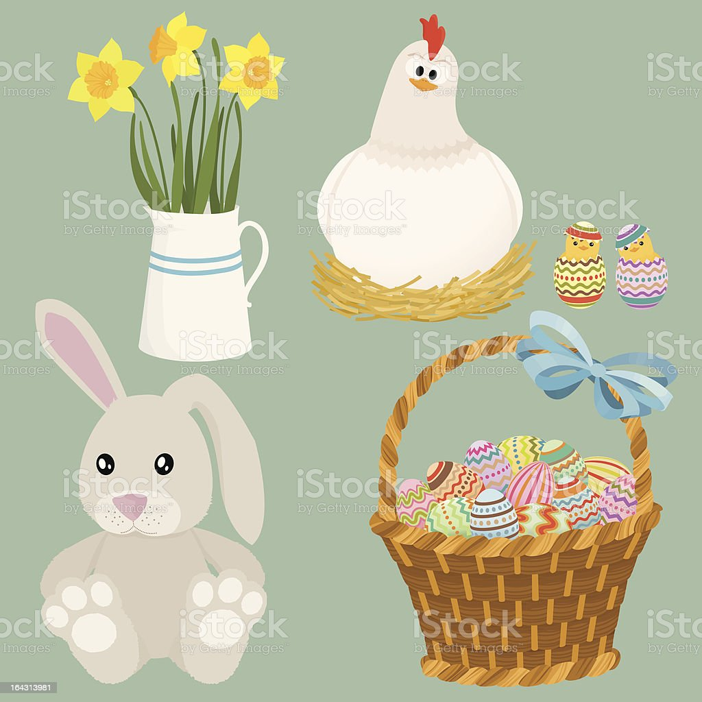 Easter elements royalty-free stock vector art