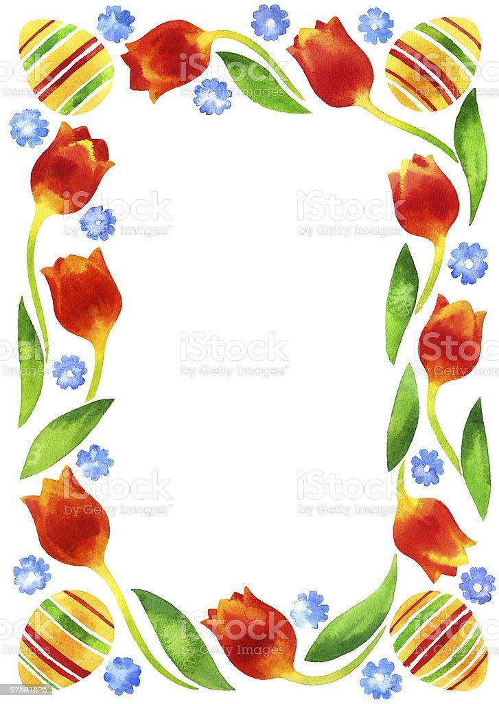 Cadre de Pâques cadre de pâques – cliparts vectoriels et plus d'images de aquarelle libre de droits