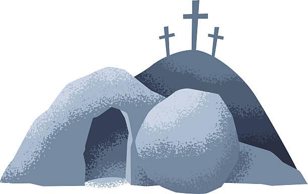 bildbanksillustrationer, clip art samt tecknat material och ikoner med easter grave - grav