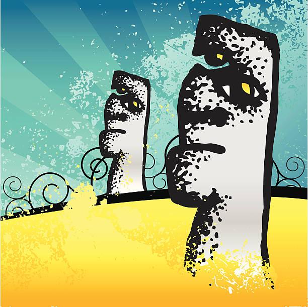 ilustrações de stock, clip art, desenhos animados e ícones de ilha de páscoa - seitas