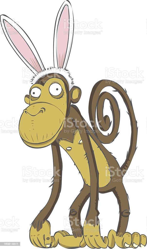 Easter Monkey royalty-free stock vector art
