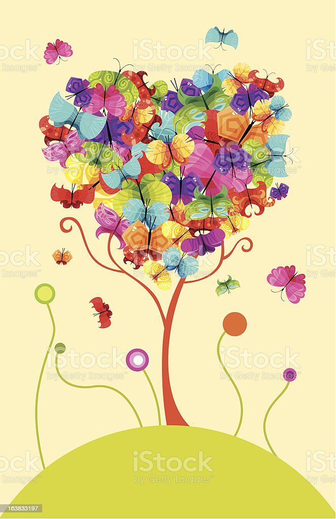 easter tree royalty-free stock vector art