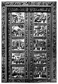 istock Eastern gate of the Church of San Giovanni in Florence ,Gates of Paradise doors on Battistero di San Giovanni in Florence 1202084734