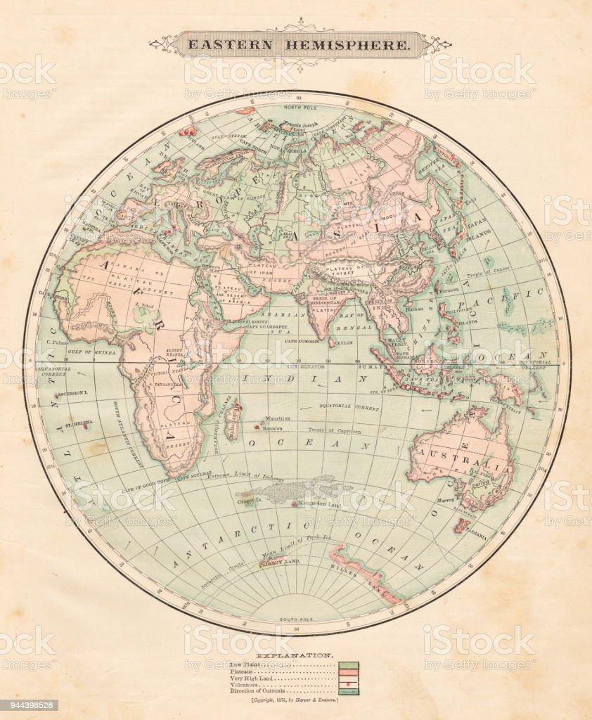 eastern hemisphere map 1881 royalty free eastern hemisphere map 1881 stock vector art