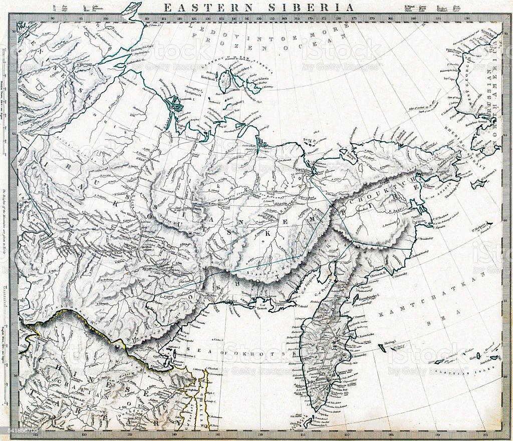 Cartina Siberia Russia.1846 Mappa Siberia Orientale Della Russia Immagini Vettoriali Stock E Altre Immagini Di Asia Istock
