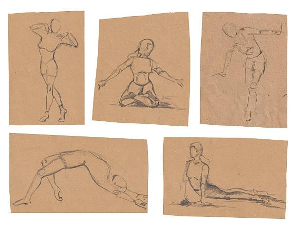 Easy sketches vector art illustration