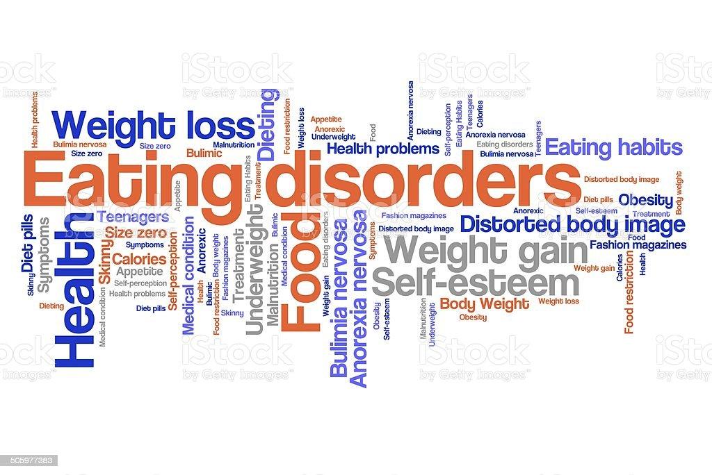 Eating disorder concept vector art illustration
