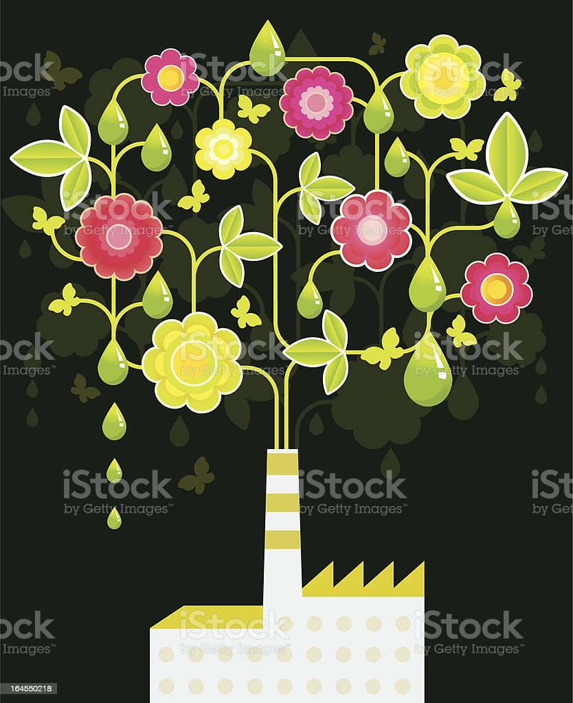 Eco Factory royalty-free stock vector art