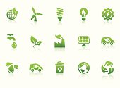 """""""Monochromatic eco-friendly related vector icons for your design or application. Raw style. Files included: vector EPS, JPG, transparent PNG files including green and black version."""""""