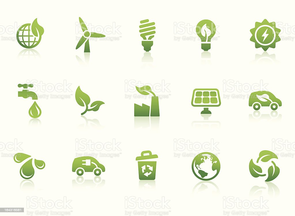 Eco Friendly icons vector art illustration