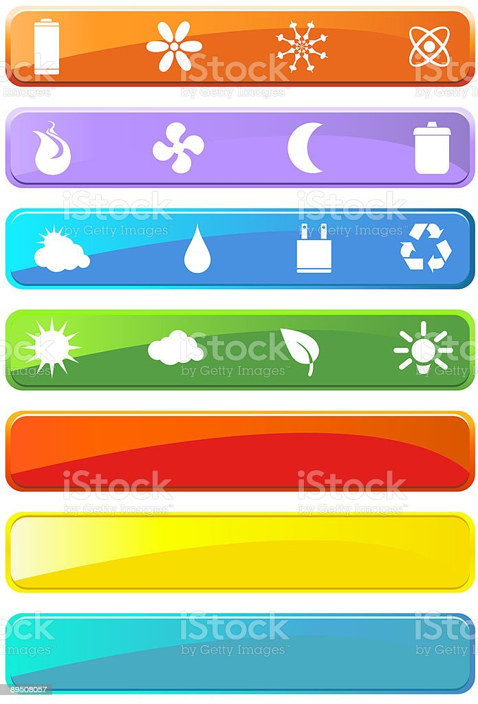 Eco Friendly Menu Bars royalty-free eco friendly menu bars stock vector art & more images of battery