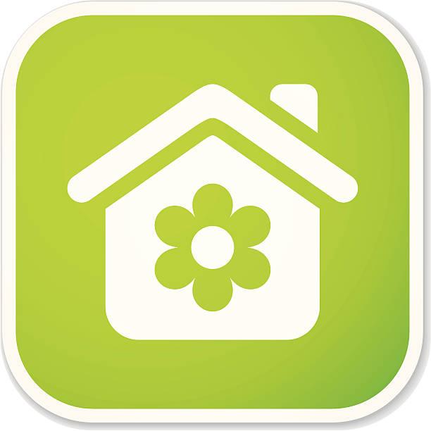 eco home m sticker - hauswirtschaft stock-grafiken, -clipart, -cartoons und -symbole