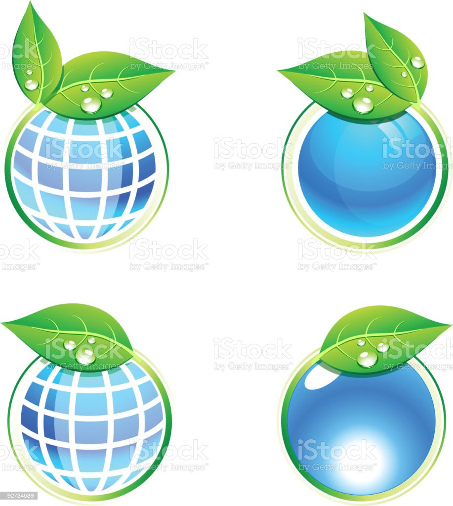 Eco icons. vector art illustration