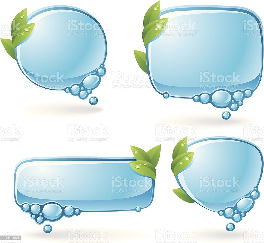 Eco speech bubble set royalty-free stock vector art