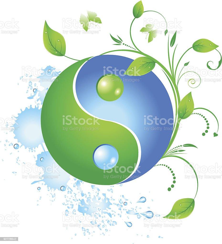 Eco yinyang royalty-free stock vector art