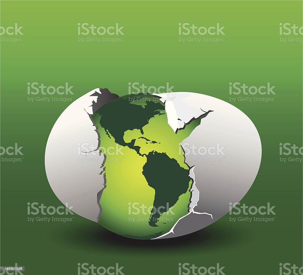 Eco-friendly Earth discovered royalty-free ecofriendly earth discovered stock vector art & more images of animal egg