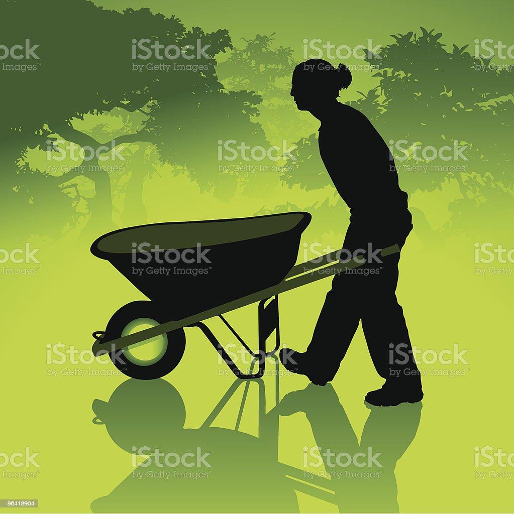 Eco-Gardening royalty-free stock vector art