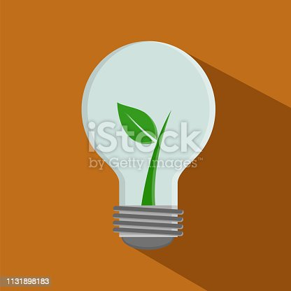 istock Ecological Focus Plant, orange background 1131898183