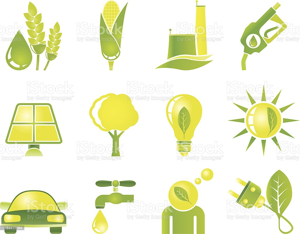 Ecology, environment and nature icons - vector icon set royalty-free stock vector art