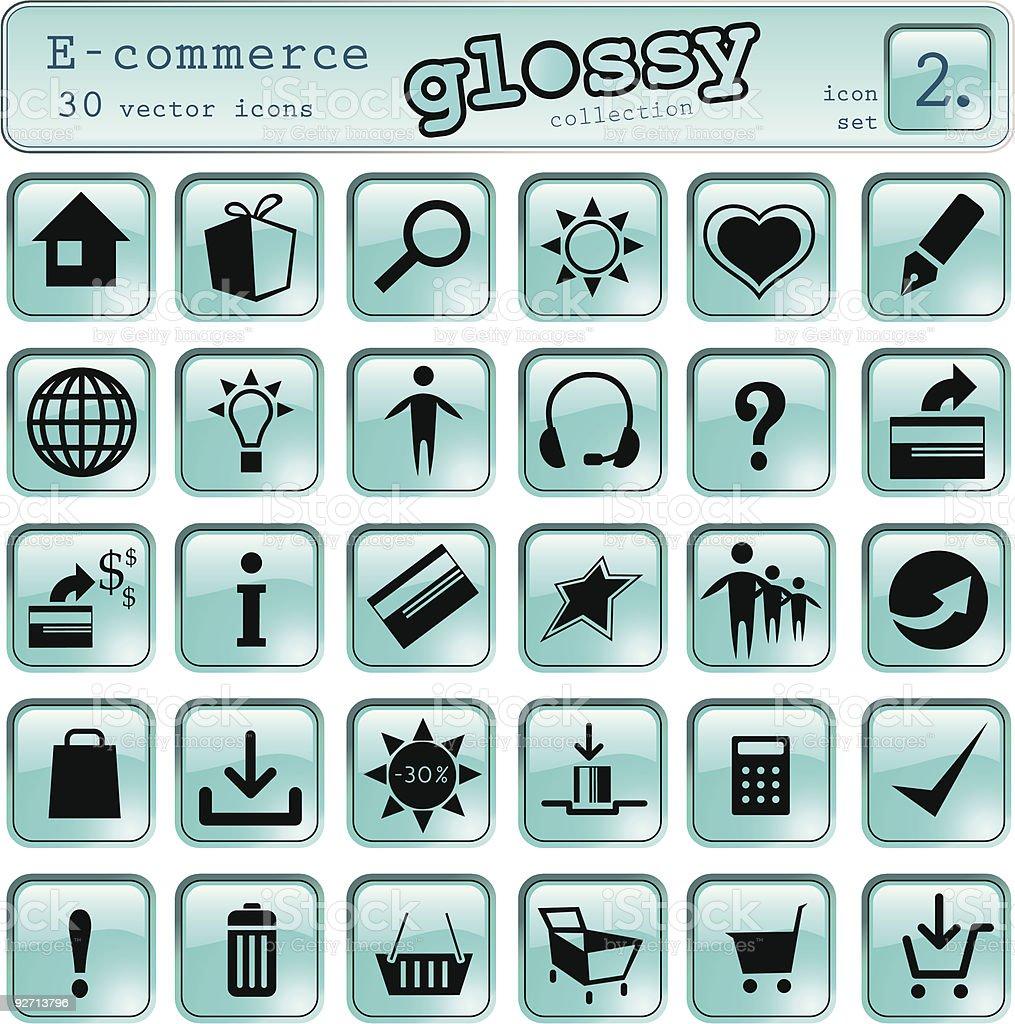 E-commerce-icons Lizenzfreies ecommerceicons stock vektor art und mehr bilder von ausverkauf