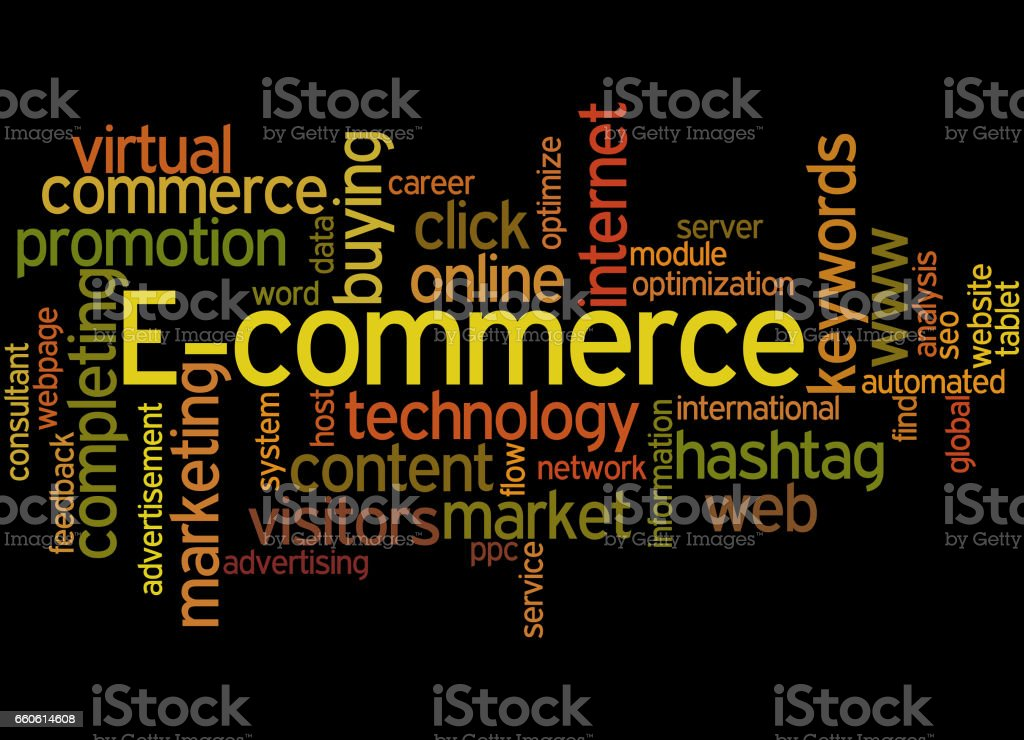 E-commerce, word cloud concept royalty-free ecommerce word cloud concept stock vector art & more images of advertisement