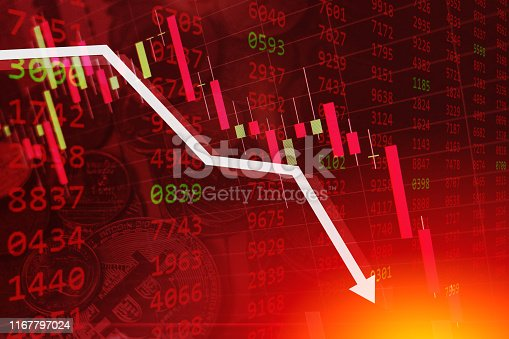 istock economic crisis stock chart falling down business global money bankruptcy concept 1167797024