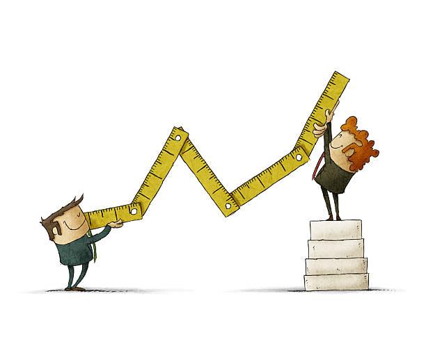 Economic growth concept vector art illustration