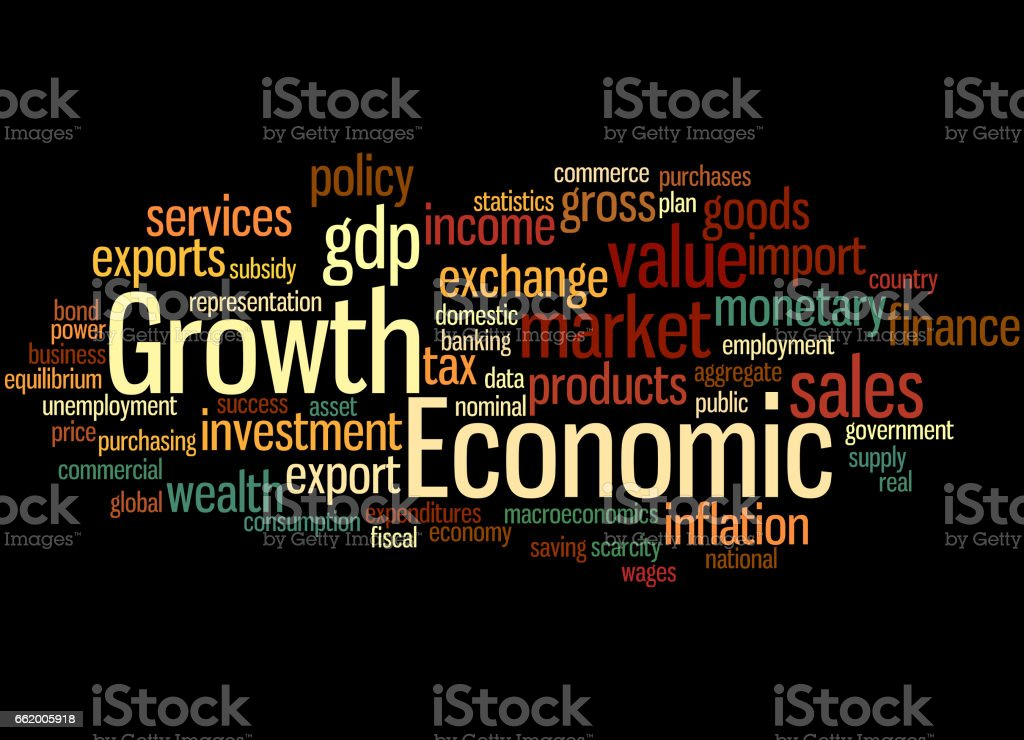 Economic Growth, word cloud concept 2 royalty-free economic growth word cloud concept 2 stock vector art & more images of business