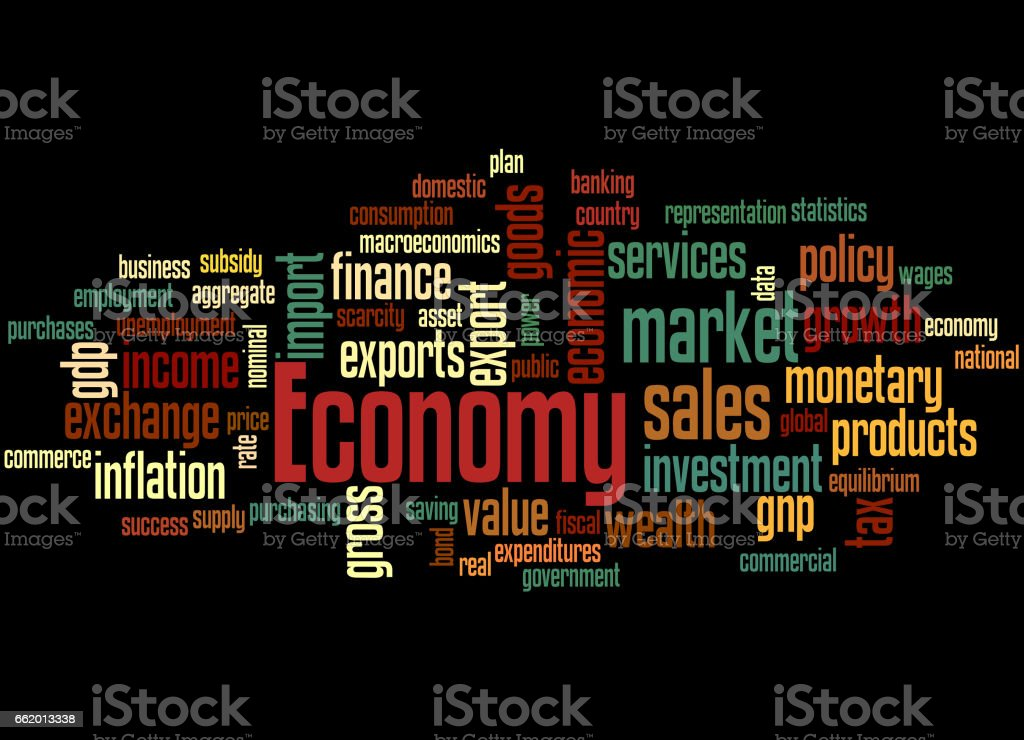Economy, word cloud concept 6 royalty-free economy word cloud concept 6 stock vector art & more images of business