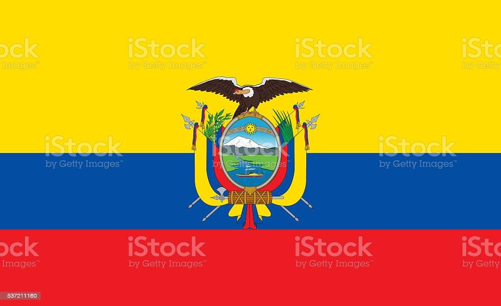 Ecuador flag vector art illustration