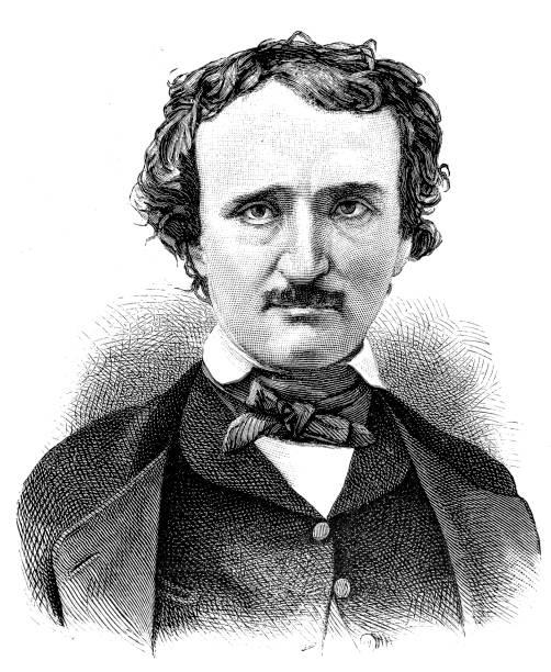 Edgar Allan Poe Illustration of a Edgar Allan Poe name of person stock illustrations