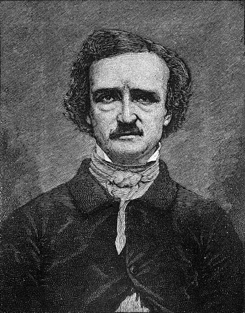 stockillustraties, clipart, cartoons en iconen met edgar allan poe - vroegmoderne tijd