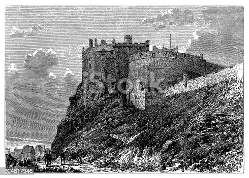 Illustration of a Edinburgh Castle