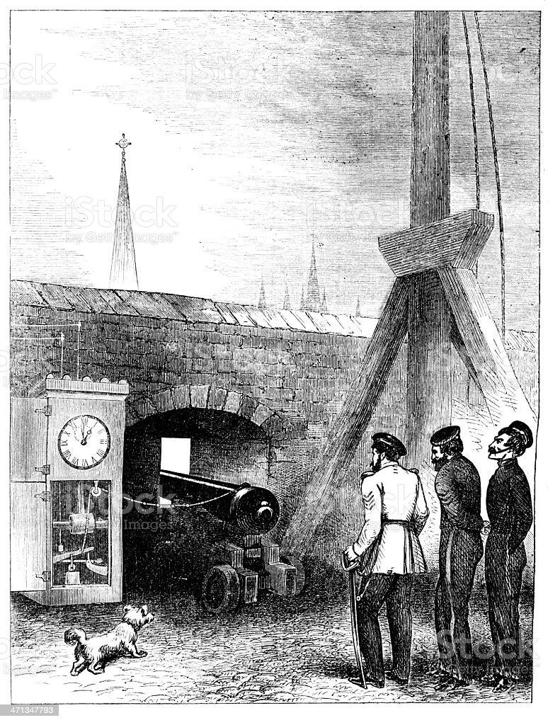 Эдинбург Замок the One OClock пистолет в 1862 году он достался команде  Университета magazine Эдинбург Замок