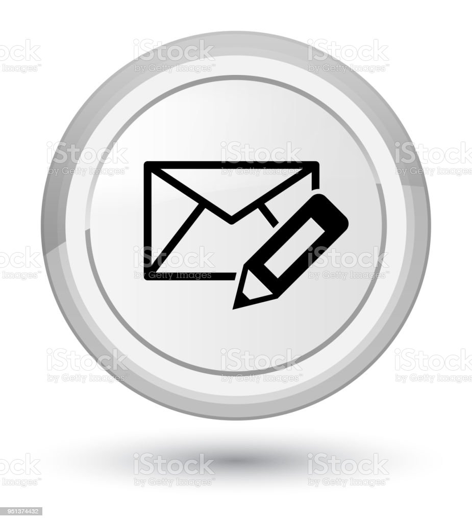 Edit Email Icon Prime White Round Button Stock Vector Art & More ...