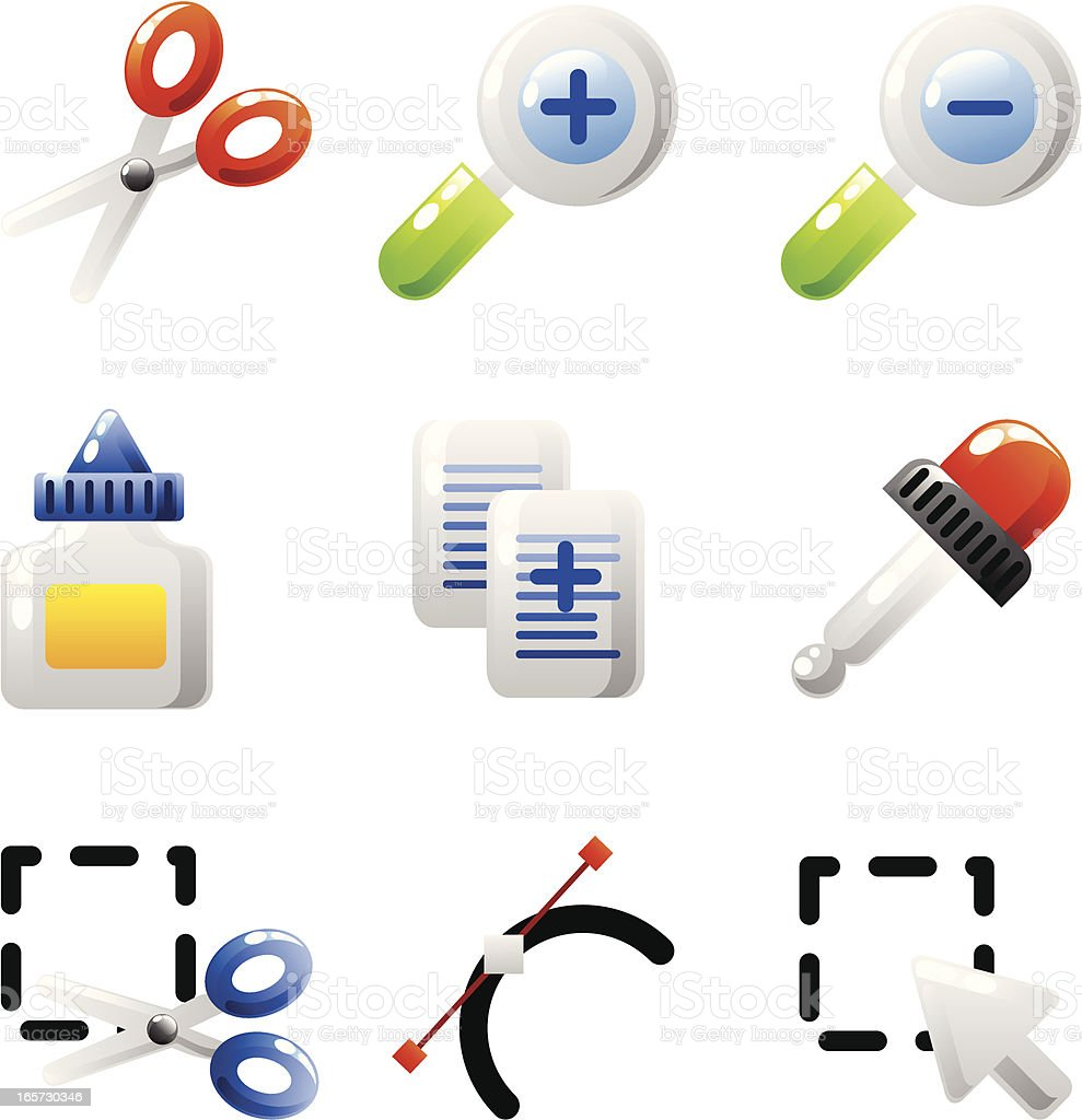Editing icons (shiny series) royalty-free editing icons stock vector art & more images of choice