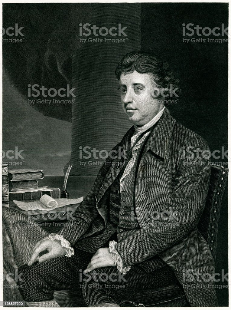 Edmund Burke royalty-free stock vector art