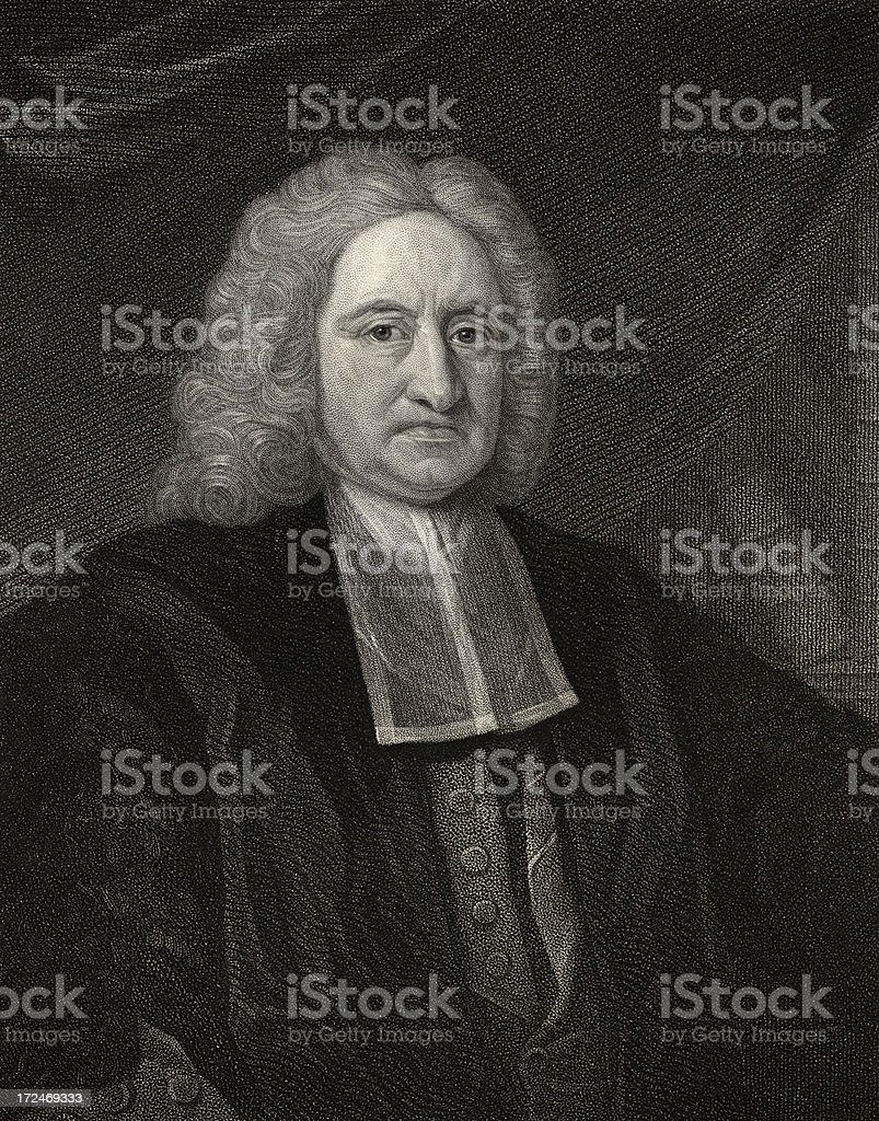 Edmund Halley,Astronomer (XXXL) royalty-free stock vector art