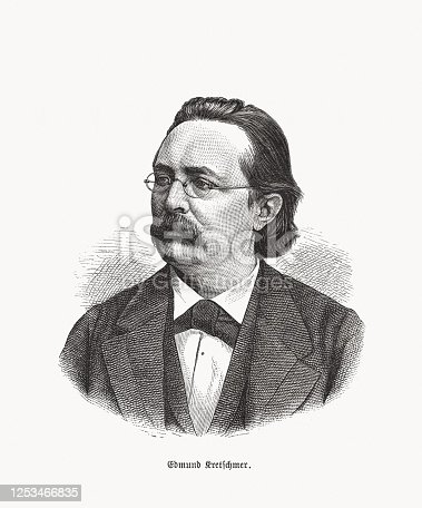 istock Edmund Kretschmer (1830-1908), German organist and composer, woodcut, published in 1893 1253466835