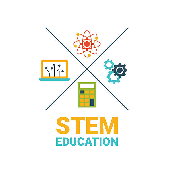 STEM education concept vector art illustration