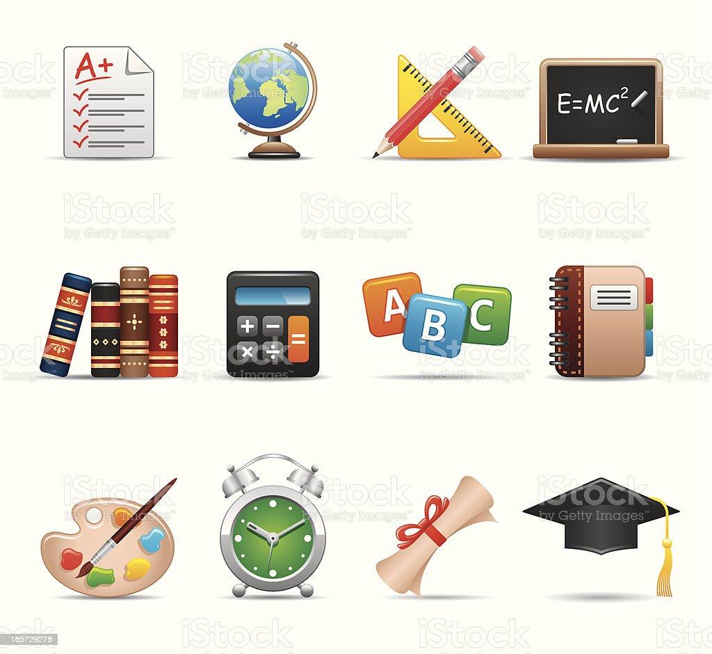 Education Icon Set   Elegant Series royalty-free stock vector art