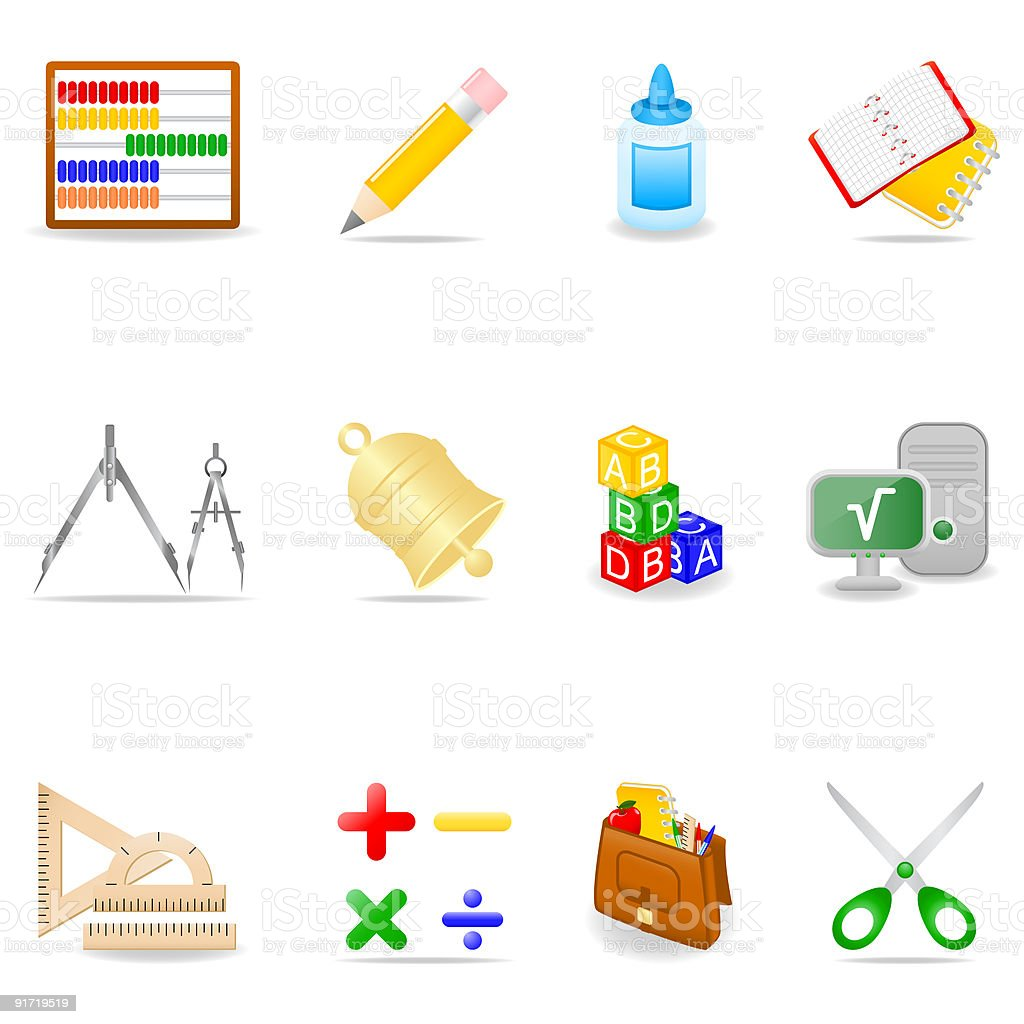 Education icon set royalty-free education icon set stock vector art & more images of abacus