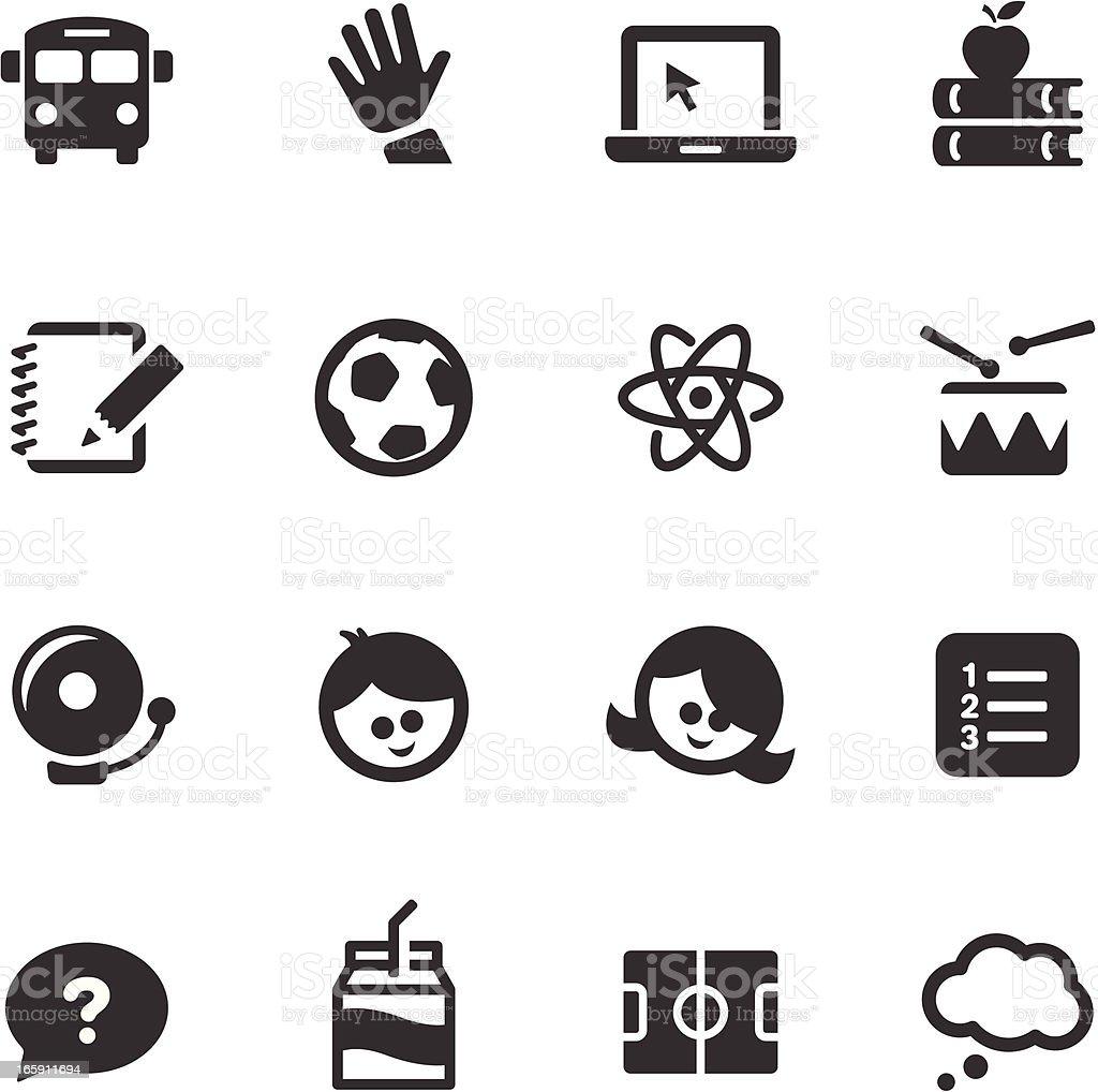 Education Icons | Mono Series royalty-free stock vector art