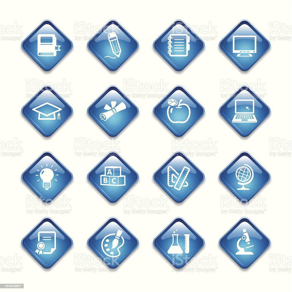 Education Icons Set royalty-free education icons set stock vector art & more images of apple - fruit