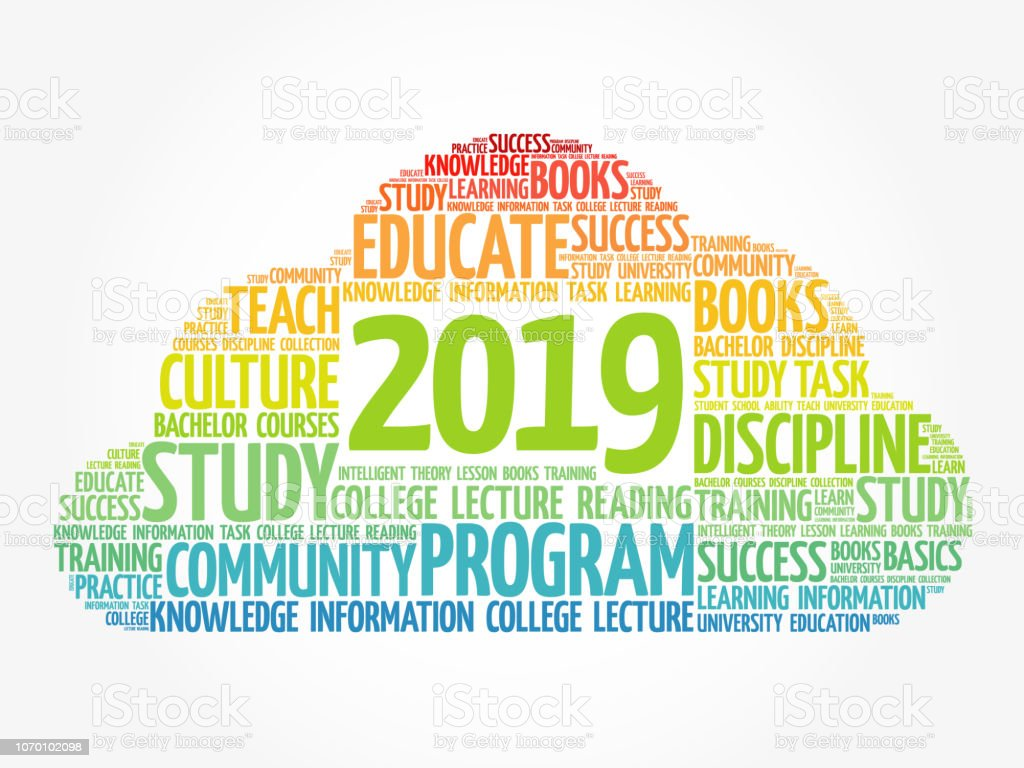 2019 Education Word Cloud Collage Stock Illustration ...