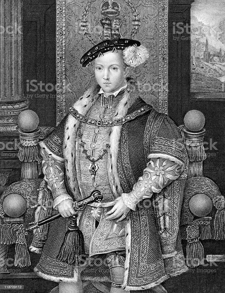 Edward VI King of England vector art illustration