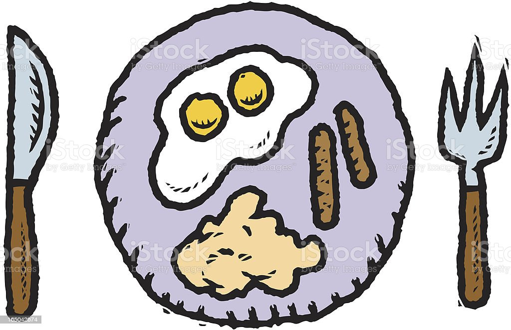 Egg Breakfast vector art illustration