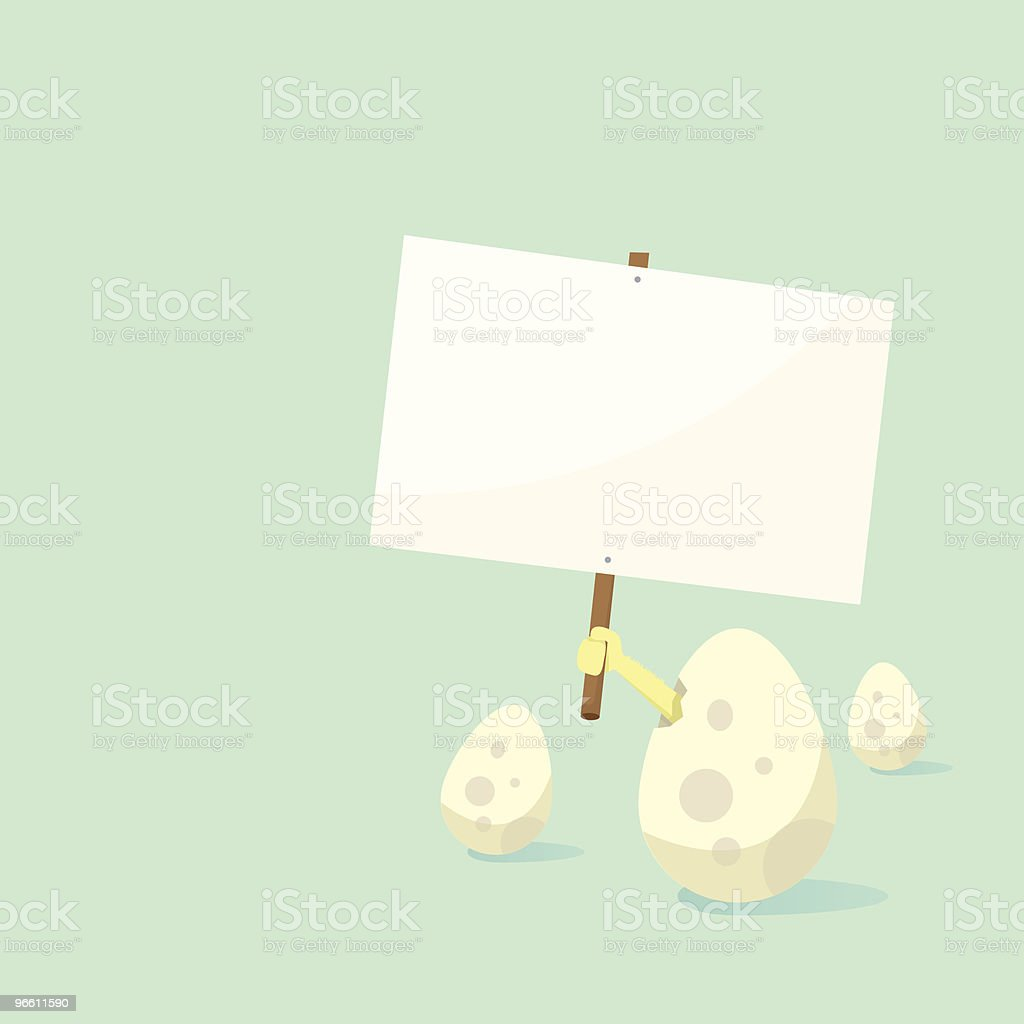 Egg strike - Royalty-free Animal Egg stock vector